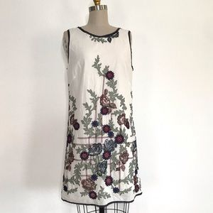M.S.S.P. L white embroidered dress
